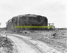 German Gun Emplacement Black n White Photo Military Normandy Invasion  June 1944