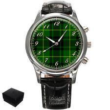 MACARTHUR SCOTTISH CLAN TARTAN  MENS WRIST WATCH  GIFT ENGRAVING