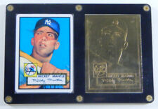(1) 1996 Topps 22k Mickey Mantle Card & (1) 1952 Topps Porcelain Mickey Mantle