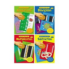 Wipe Clean Multiplication Division Addition Subtraction 3-5, 5-7 Educational Fun