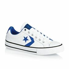 Converse Trainers - Converse Star Player Junior EV Ox Shoes - White/Soar/Black