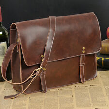 Retro Men's Leather Shoulder Messenger bag Business Briefcase Attache Handbag