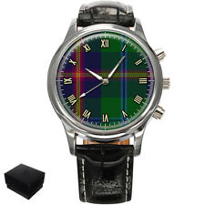 YOUNG SCOTTISH CLAN TARTAN GENTS MENS WRIST WATCH  GIFT ENGRAVING