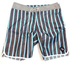 Quiksilver Speed Lines 19 Black & Blue Stripe Boardshorts Mens NWT