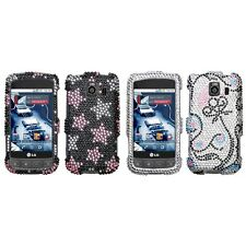 For LG Optimus S LS670 Diamond Diamante Bling Rhinestone Case Cover