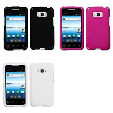 For LG Optimus Elite LS696 Rigid Plastic Hard Snap-On Case Phone Cover