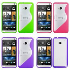For HTC One M7 TPU Hard Case Skin Phone Cover