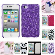 For Apple iPhone 4/4S Diamond Bling Rhinestone Case Phone Cover
