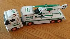 2006, HESS TOY TRUCK, Tractor Trailer Toy Truck with Helicopter, used, complete
