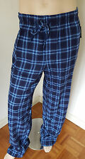 NWT Men's Flannel Lounge Pants Croft & Barrow Big & Tall Blue Plaid Cotton Blend