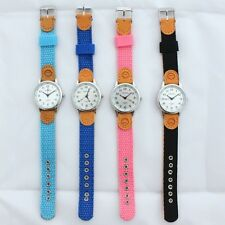 New Student Girl Boy Kids Learn To Time Tutor Teacher Wristwatch Gift Box U13A
