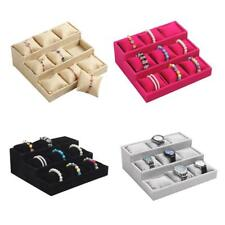 New Fashion 9 Grids Watch Bracelet Pillow Jewelry Display Box Holder Jewely Gift