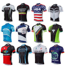 Mens Outdoor Sports Cycling Jersey Bike Short Sleeve Clothing Bicycle T-Shirt