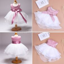 Flower Girl Princess Dress Toddler Baby Party Wedding Pageant Formal Tutu Dress