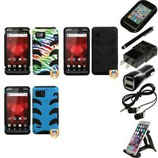 For Motorola Droid Bionic XT875 Hybrid IMPACT Hard Soft Rugged Case Accessories
