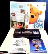 The Book of Pooh Stories from the Heart VHS Clamshell Disney Original Paperwork