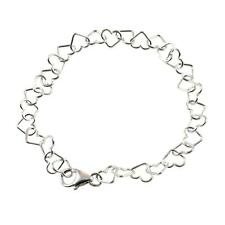 925 Sterling Silver Hearts Charm Bracelet - Boxed - Various Sizes