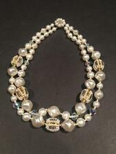 Vintage Double-Strand JAPAN 1950's Faux Pearl Plastic Bead Necklace
