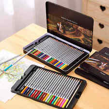 Hot New 24/36/48/72 Colors Water Color Pencils Paper/Tin Case Drawing Sketching
