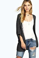 Boohoo Womens Lucy Loose Knit Batwing Cardigan