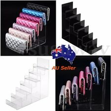7 Layer Clear Acrylic CD DVD Wallet Retail Display Stand Rack Holder Organizer