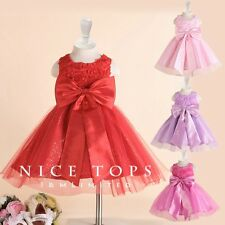 KId Reds Easter Wedding Party Flowers Girls Dresses AGE SIZE 2 3 4 5 6 7 8 9 10Y