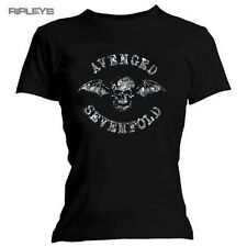 Official Skinny A7X Avenged Sevenfold T Shirt DIAMANTE Bat Logo All Sizes
