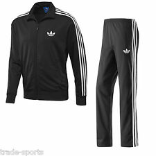 adidas ORIGINALS MENS FIREBIRD TRACK SUIT BLACK SIZE S M L XL SPORTS PANT JACKET