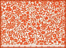 Robert Kaufman PIMATEX ORANGE FLORAL TROPICAL Cotton Quilt Sewing Fabric 2-3 yds
