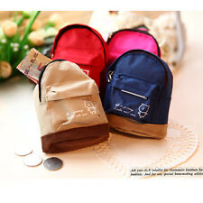 Mini Small Cute Women Lady Girl Pouch Coin Purse Backpack Canvas Bag Wallet ESUS