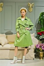 Lapel  double breasted trench coat Trench Long Jacket 1x-10x (16-52)G433