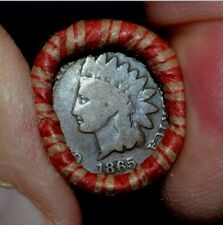 1865 / Indian Head Cent ends**BANKERS OLD ESTATE*Lincoln Wheat Penny Roll !