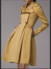 Double breasted slim Flared skirter swing trench coat  plus1x-10x (16-52)G401