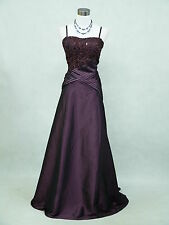 Cherlone Satin Dark Purple Long Prom Ball Wedding/Evening Gown Bridesmaid Dress