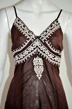 new MONSOON BROWN SEQUIN embroidered camisole top - sizes UK 12 , 14 & 16