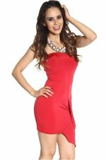 121AVENUE Sexy Strapless Unique Front Dress S M L Small Medium Large Women Red