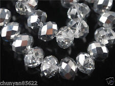 Rondelle Faceted Crystal Glass Spacer Bead Finding 4mm*6mm 98pcs