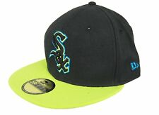 New Era 59Fifty MLB Chicago White Sox fiitted Black Neon Hat Cap NWT