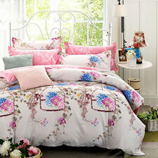 Cotton Quilt Doona Duvet/Cover Set Single Double Queen King Size Bed New Linen