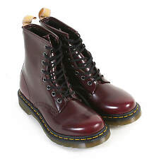 Dr Martens Women's 1460 Vegan Cambridge Brush Lace Up Boot Cherry Red