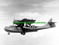 USN Consolidated PBY-5A  Catalina Patrol Bomber Black n White Photo  Military