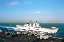 HMS Invincible RO5 Color UK Photo British Navy Aircraft Carrier Military vet usn