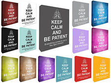 Keep Calm & Be Patient Buddha Wall Picture Canvas Print Wall Art Picture Large