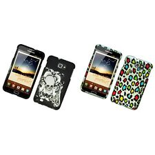For Samsung Note i717 N7000 Hard Phone Case Design Rubberized Snap-On Cover
