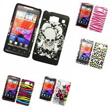 For Motorola Droid Razr HD XT926 Hard Phone Case Design Rubberized Snap-On Cover