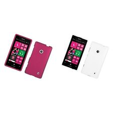 For Nokia Lumia 521 Hard Snap-On Rubberized Phone Skin Case Cover