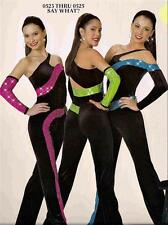 JAZZ DANCE COSTUME SKATE TAP JUMPSUIT  TWIRL COMPETITION SAY WHAT