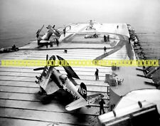 USS Valley Forge CV-45 F4U Corsair  Photo Navy USN Military Carrier Korea CV 45