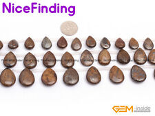 """Natural Drip Brown Bronzite Top-Drilled Stone Beads For Jewelry Making Strand15"""""""