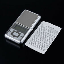 Mini Digital LCD Electronic Jewelry Pocket Gram Weight Balance Scale Bluelans